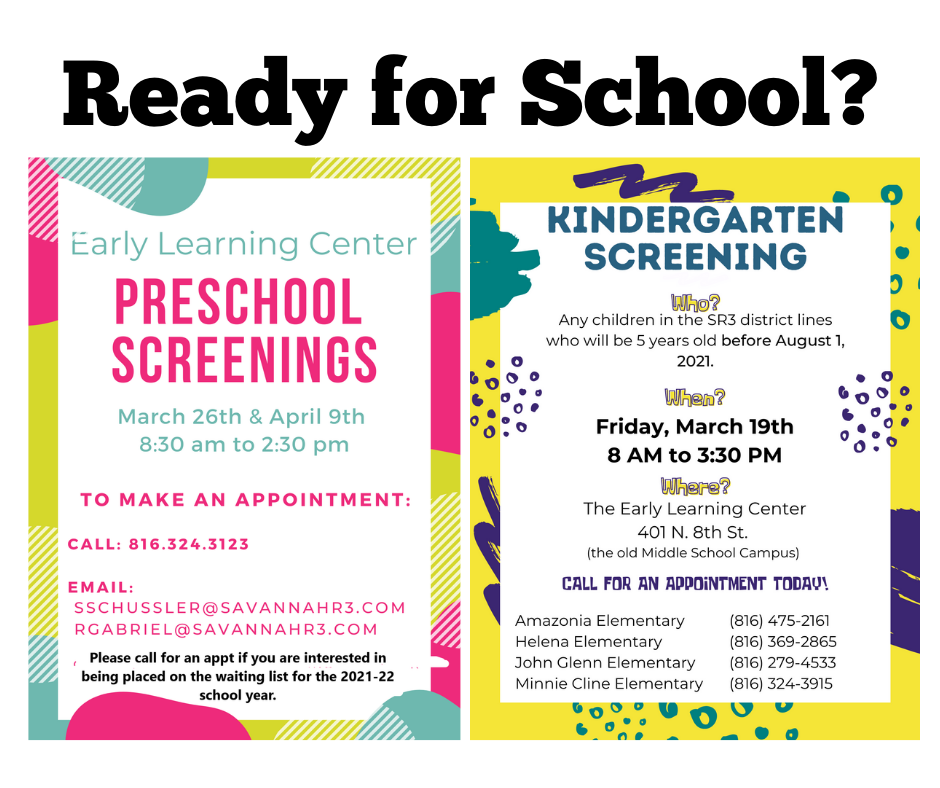 SR3 looks to the fall with Kindergarten and PreSchool Screening Dates