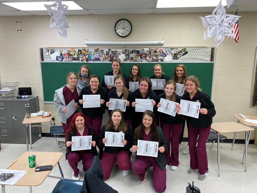 Health Occupation Class passes their CNA Test