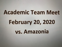 We're very proud of our Academic teams. They did a great job against Amazonia!