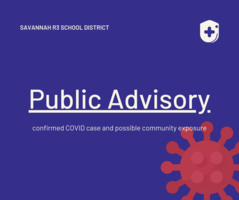 Confirmed COVID case and possible community exposure