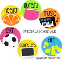 Specials Lessons & Activities Week of May 18