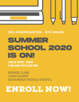 K-8 Summer School Enrollment is open NOW!