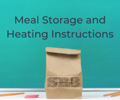 Meal Storage and Heating Instructions for free meals