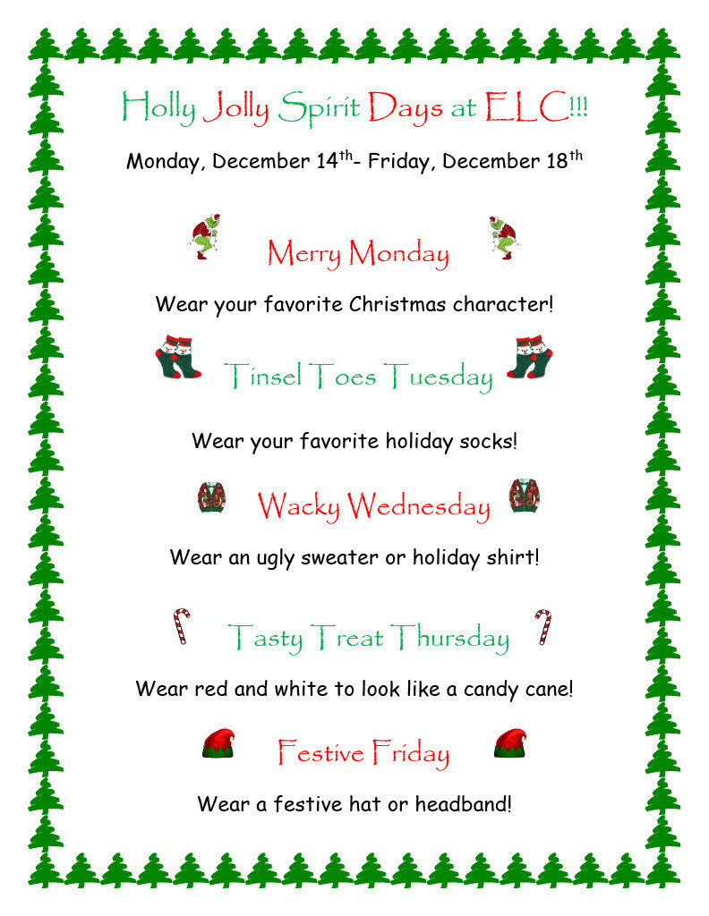 Christmas Spirit Wear Days