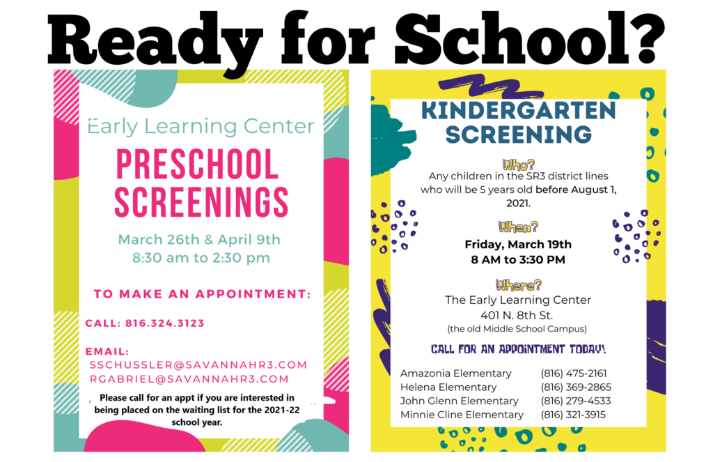 flyer for kindergarten and preschool screening