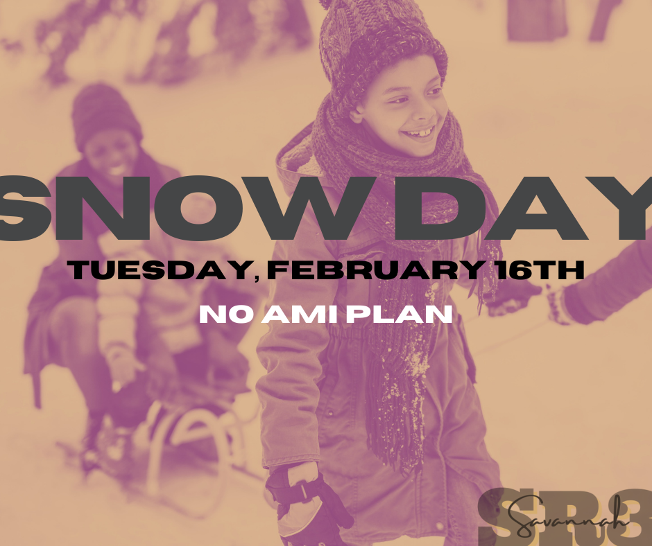 campuses closed Tuesday, February 16th.  No AMI plan.