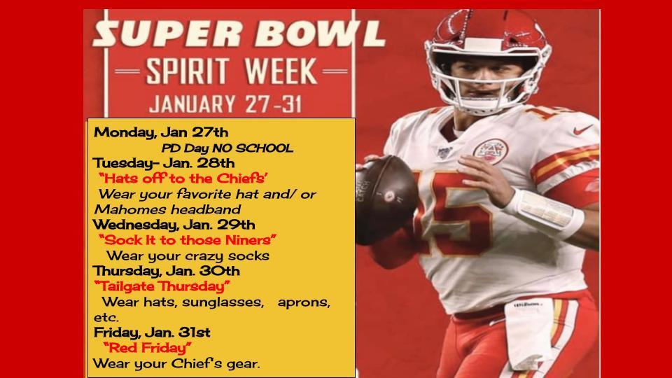 SMS Super Bowl Dress Up Days