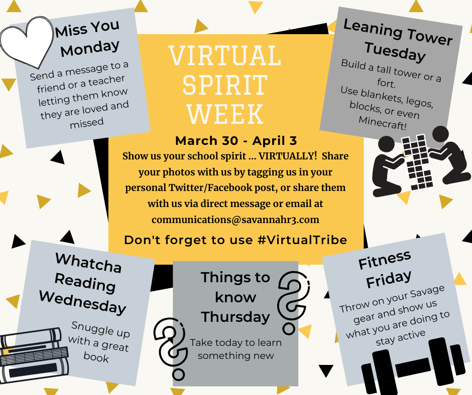 Virtual Spirit Week Schedule
