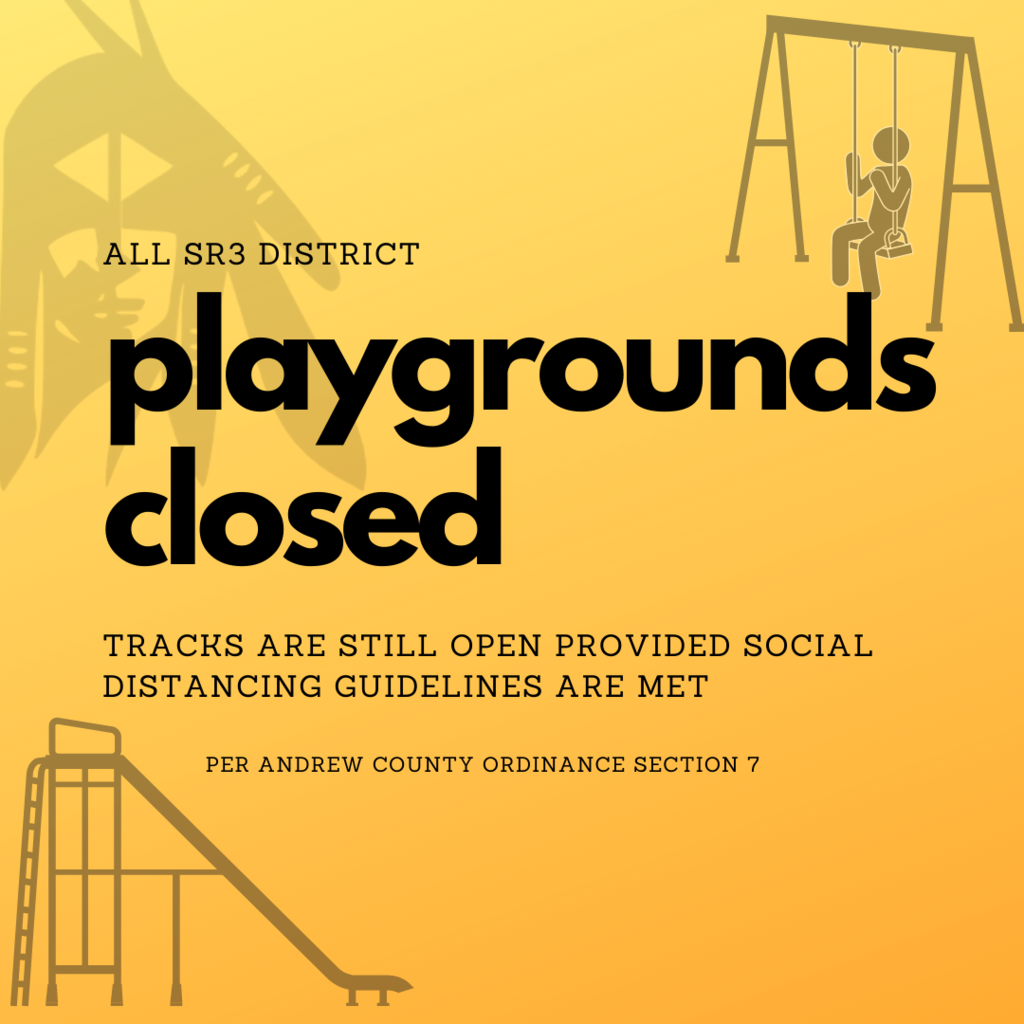 all district playgrounds are closed.