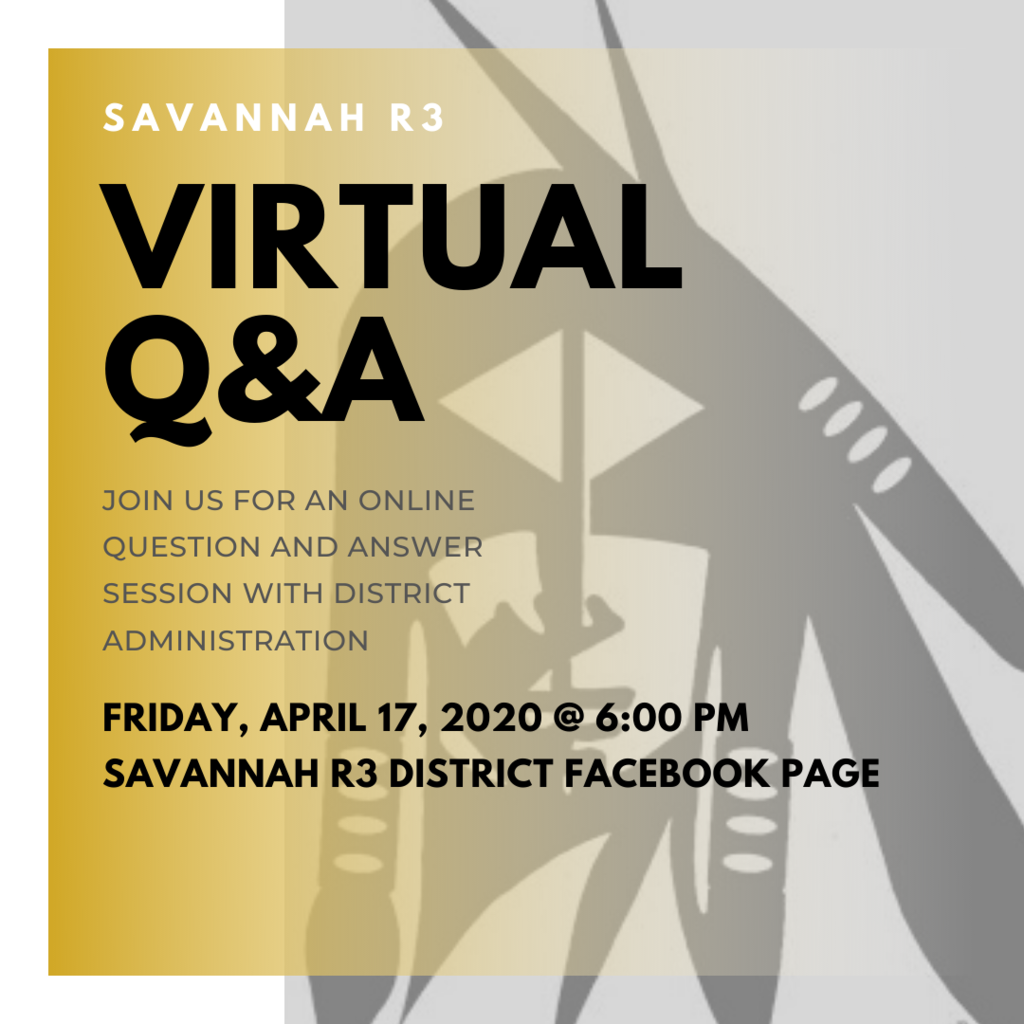 Virtual Q&A Friday at 6pm on Facebook.