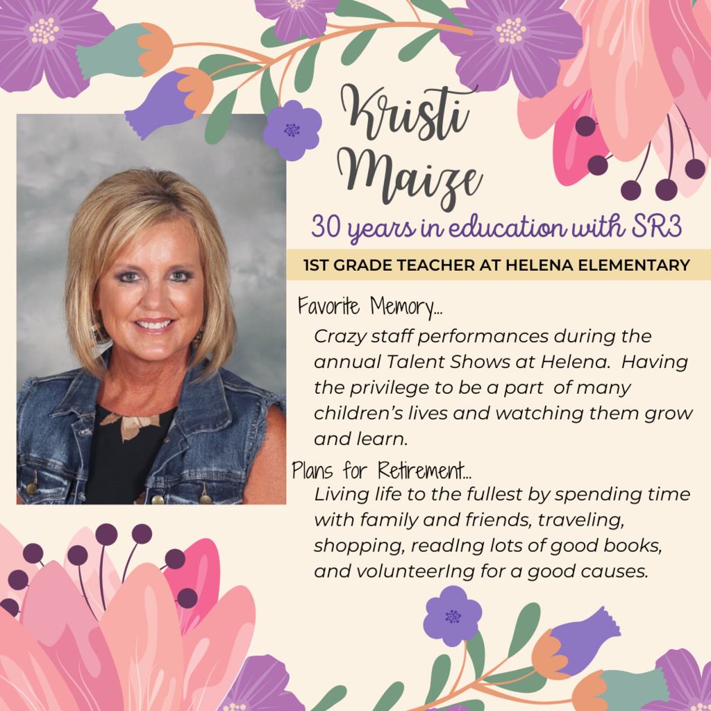 retirement announcement for Kristi Maize
