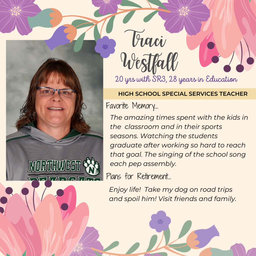 retirement announcement for traci westfall